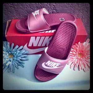 Nike Benassi JDI Shadowberry & Mauve Slide Sandals